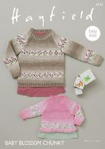Hayfield Baby Blossom Chunky - 4715 Sweaters Knitting Pattern